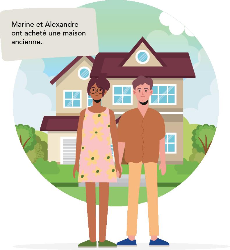 Marine et Alexandre ont achete une maison ancienne