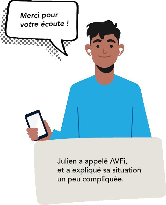 Julien a donc appele AVFi et a explique sa situation